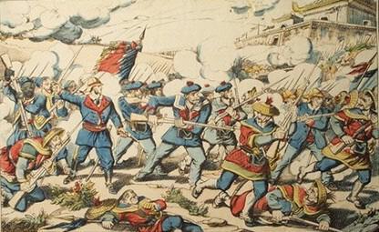 프랑스의 베트남 침공 당시 통킹만 전투.
