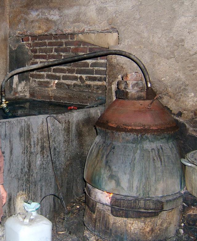 전통 쌀소주 양조 과정.