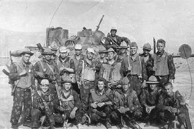 아프간 전쟁에서의 소련군.  필자 제공