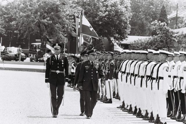 1985년 당시 한미연합사 창설 기념식 모습.