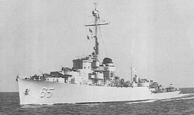 1954년부터 해군사관학교 생도 해외 순항훈련에 참가한 PF-65 낙동강함. 사진=해군본부 제공