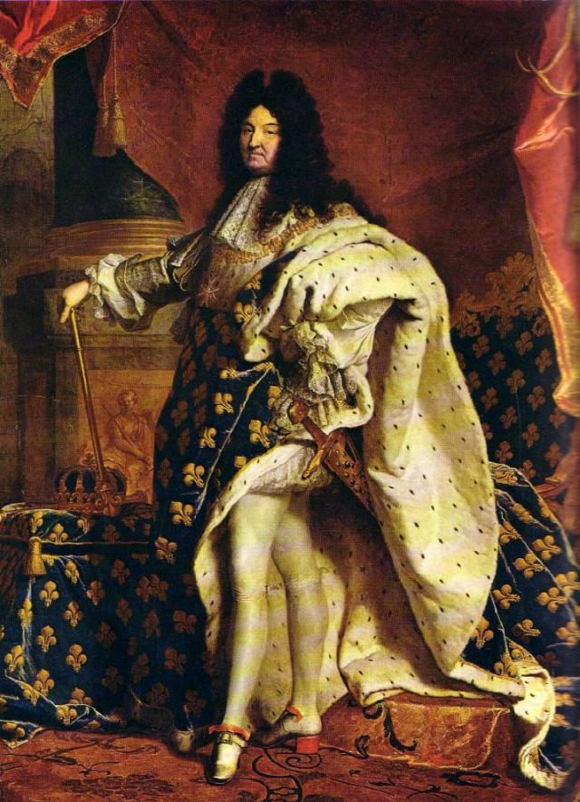 루이 14세의 초상화(이아생트 리고 작품).