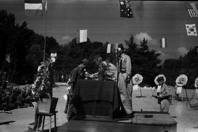 1951년 8월 당시 공군사관학교 졸업·임관식 모습.