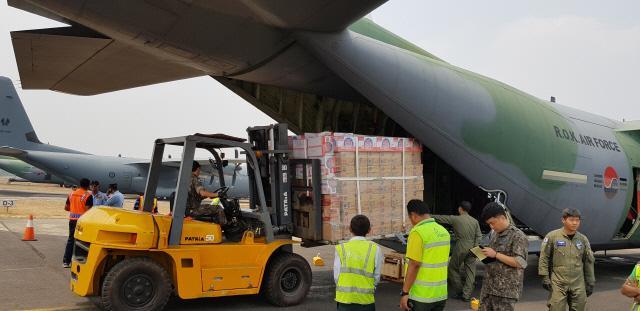 공군 수송기 인도네시아 지진피해 지원 종료