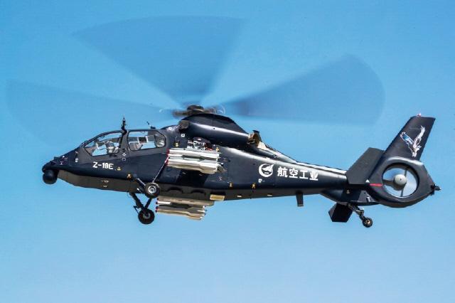 중국  Z-19E 무장정찰공격헬기 수출용 양산 준비 완료