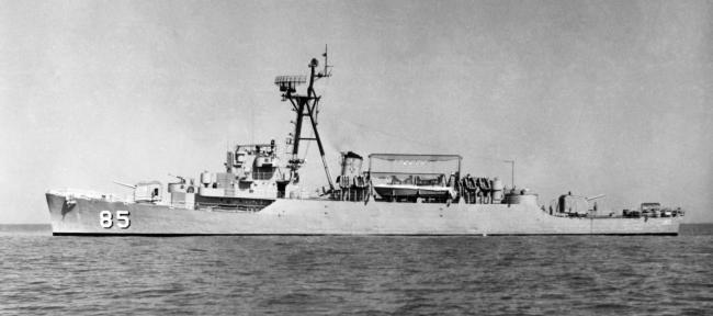 호위구축함 웅포함의 기동 모습. 사진=해군본부 제공