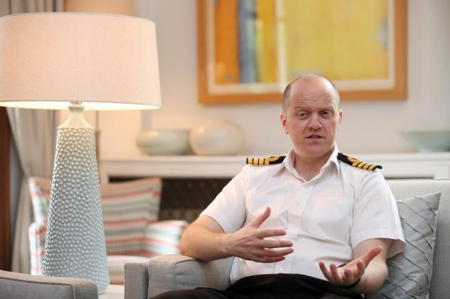 앤드루 로즈 영국 해군 대령이 13일 서울 중구 정동 주한 영국대사관에서 국방일보와 인터뷰를 하고 있다.