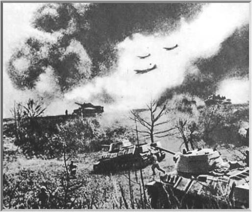 독일군의 전격전 모습.