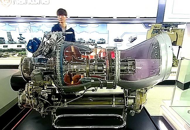 2017년 10월 서울에어쇼에서 한화에어로스페이스가 전시한 LAH의 엔진.