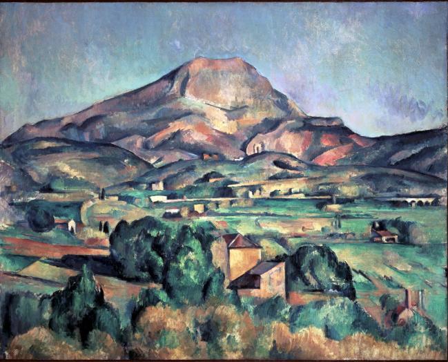 세잔의 '빅토와르 산', 1892-1895, 유화, 73x92cm, 반즈컬렉션.