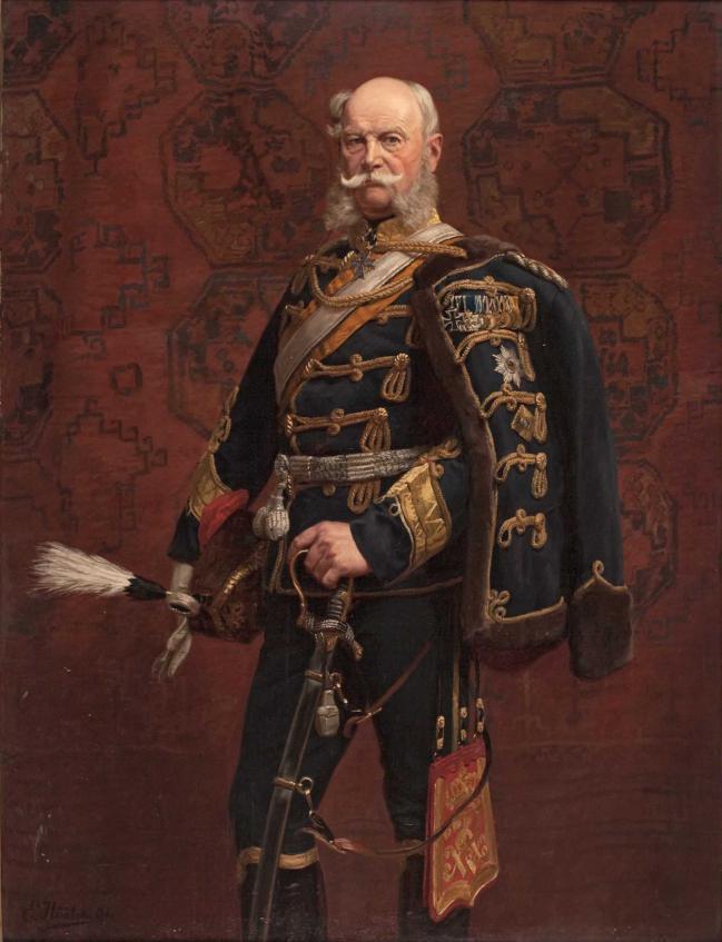 1891년 에밀 훈텐이 그린 카이저 빌헬름 1세의 초상화.   사진=www.hermann-historica.de