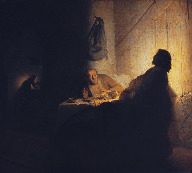 렘브란트가 23세에 그린 '엠마오의 만찬'. 필자 제공