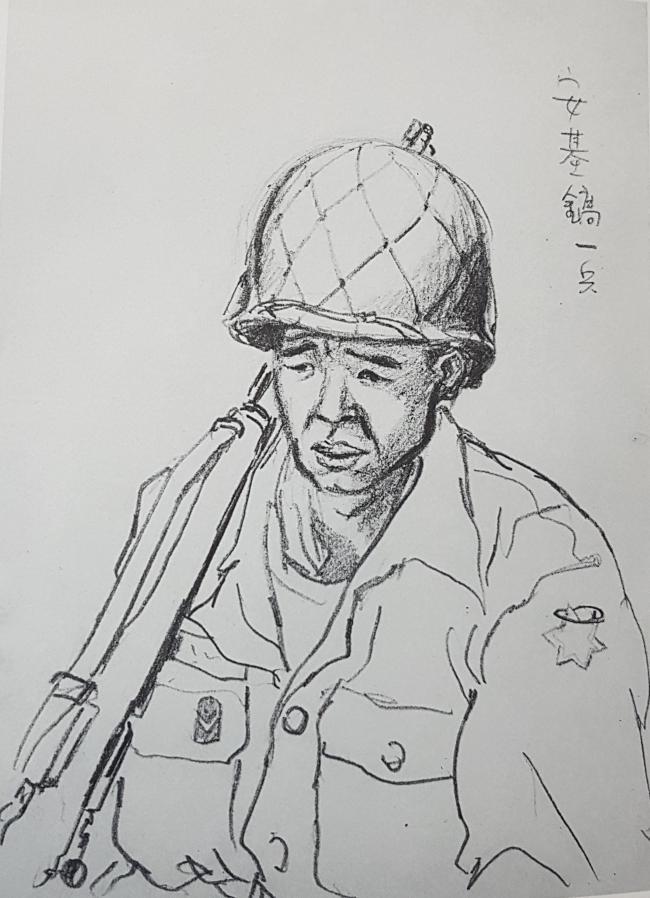 안기호 일병 (군번: 3700442)