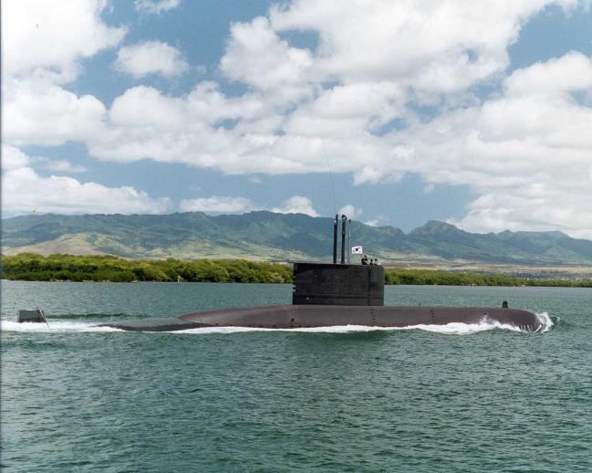 한국 잠수함 최초로 무사고 안전항해 30만 마일을 달성한 장보고함. 부대 제공