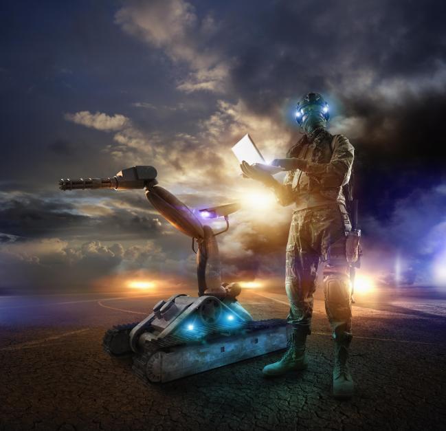 육군드론봇전투체계를 이미지로 표현한 사진.  육군 제공