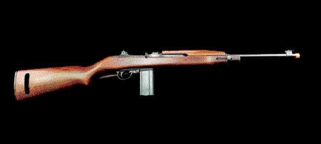 필자가 개조한 M1 카빈 모형 총기의 모습. 일본 다나카사(社)의 발화(發火) 모델건을 기반으로 개조해 영화 '라이언 일병 구하기'에서 호바트 상사가 사용했던 총기를 재현했다.   필자 제공